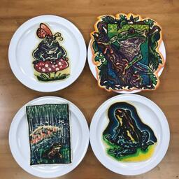 Frog Group Shot Pancake Art