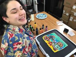 Making Pancake Art with The Bae