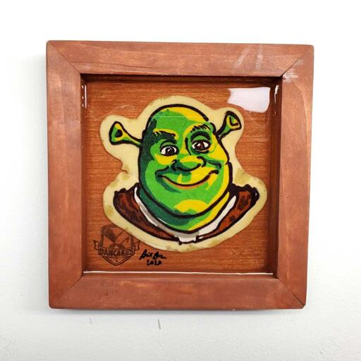 Mini Shrek Pancake Art