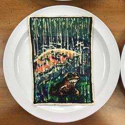 Rainy Day Frog Pancake Art