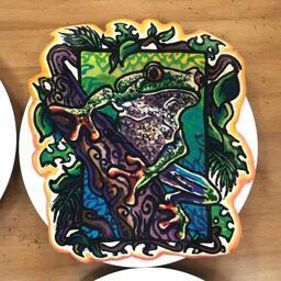 Tree Frog Pancake Art