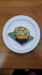 Cinnamon Roll Pancake Art