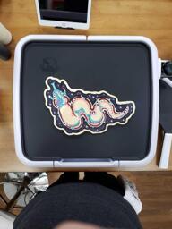 Freehand Celestial Creature Pancake Art