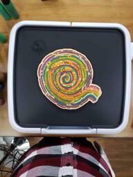 Freehand Color Spiral Pancake Art