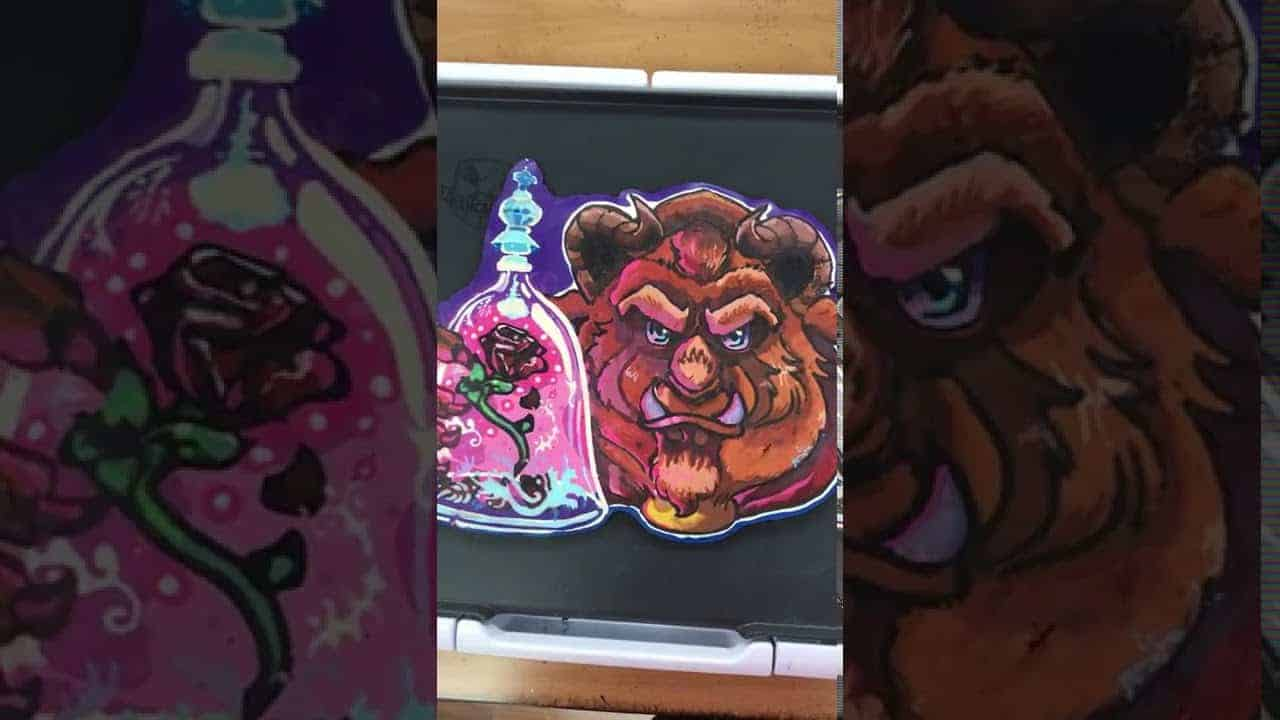 Beast Pancake Art Process - Preserved and Up For Auction