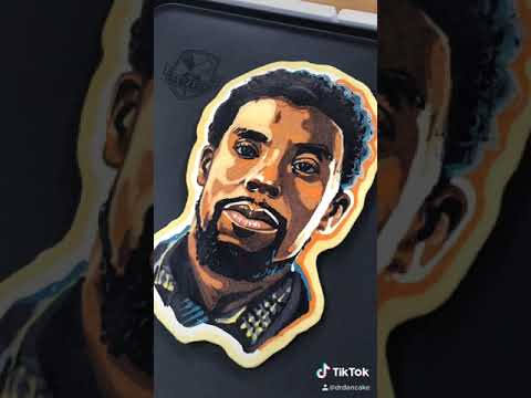 Chadwick Boseman Pancake Art - Rest in Power, Kinh #Shorts
