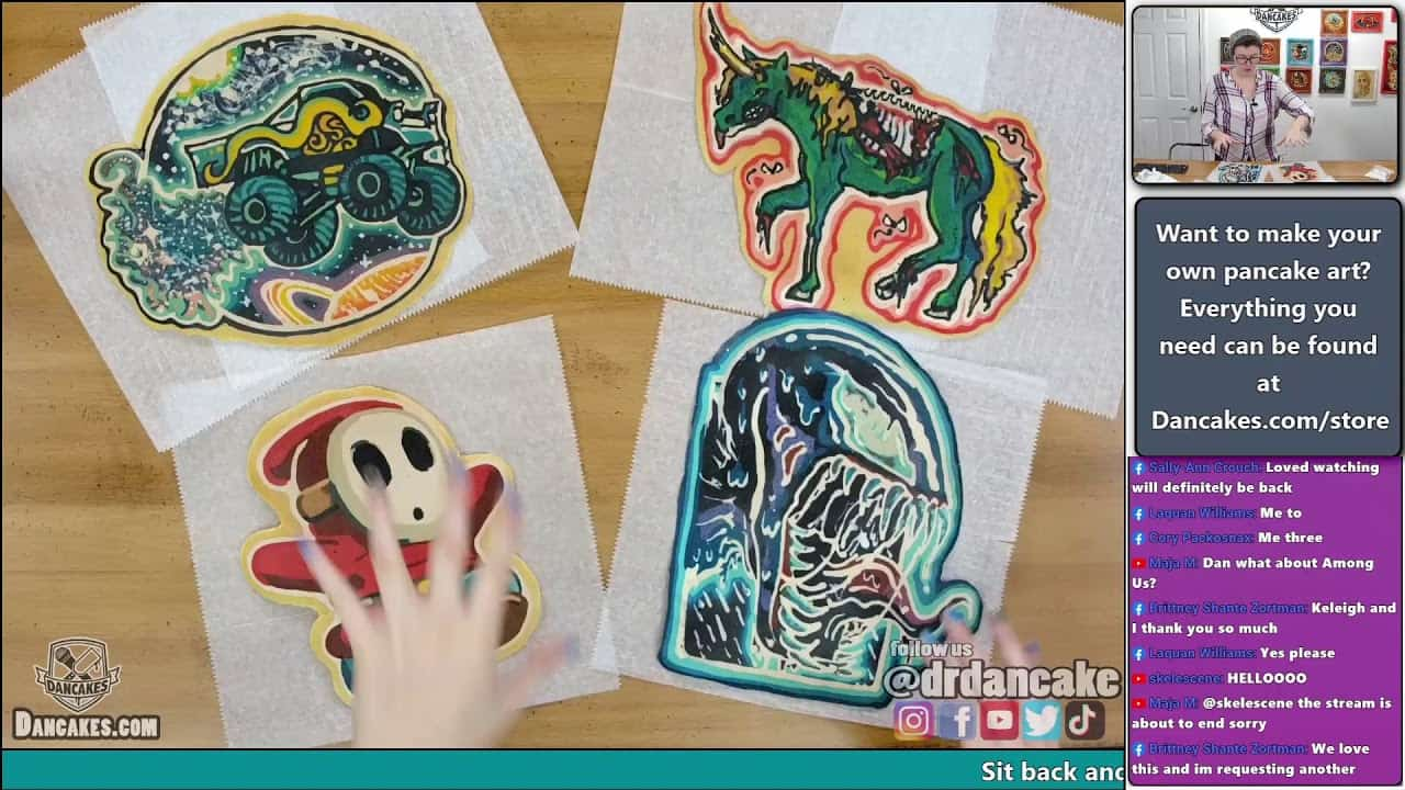 Chill relaxing pancake art live with Dana!   What should I make today?   Joy of Pancakes ep. 35