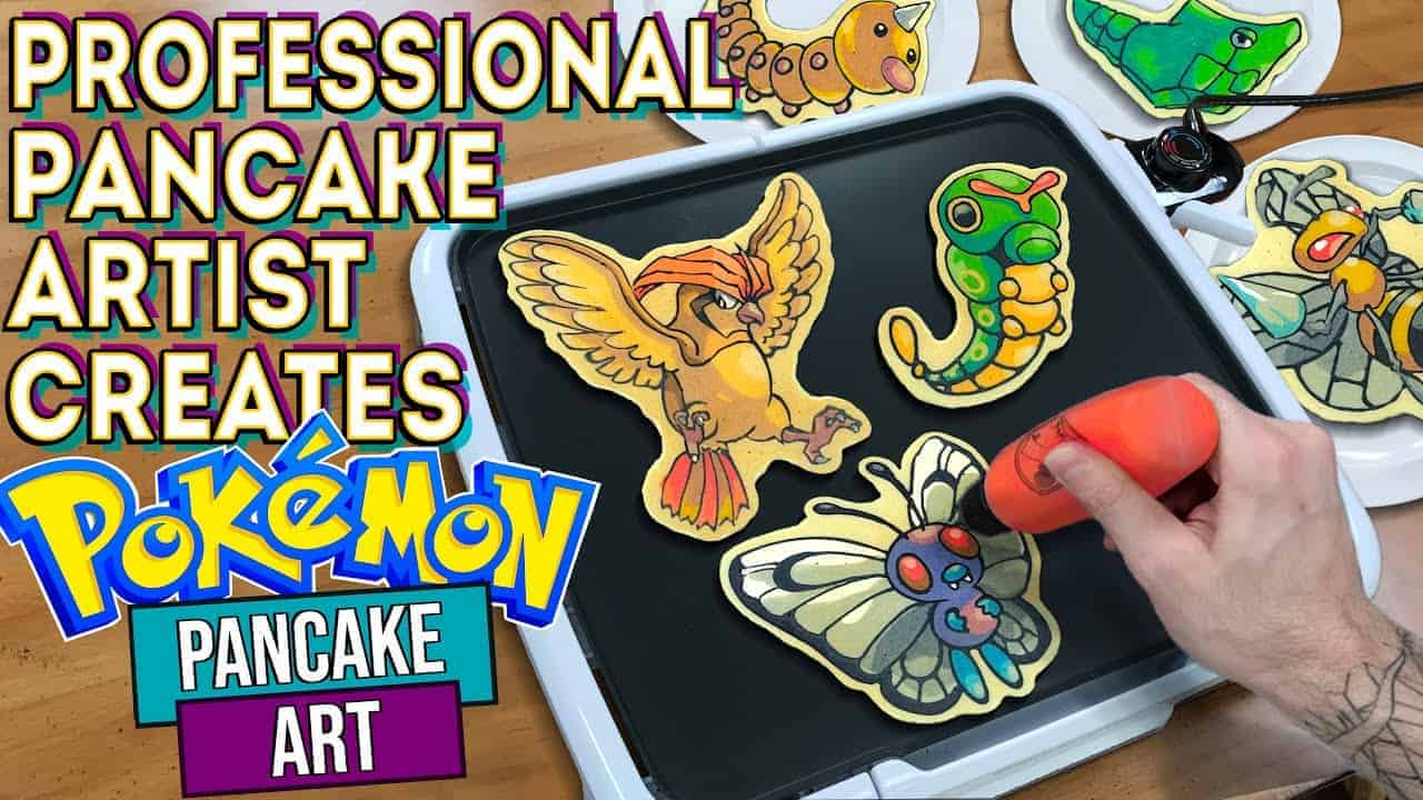 Professional Pancake Artist Creates - Pokémon #10-18 Pancake Art - PRESERVED AND FOR SALE!