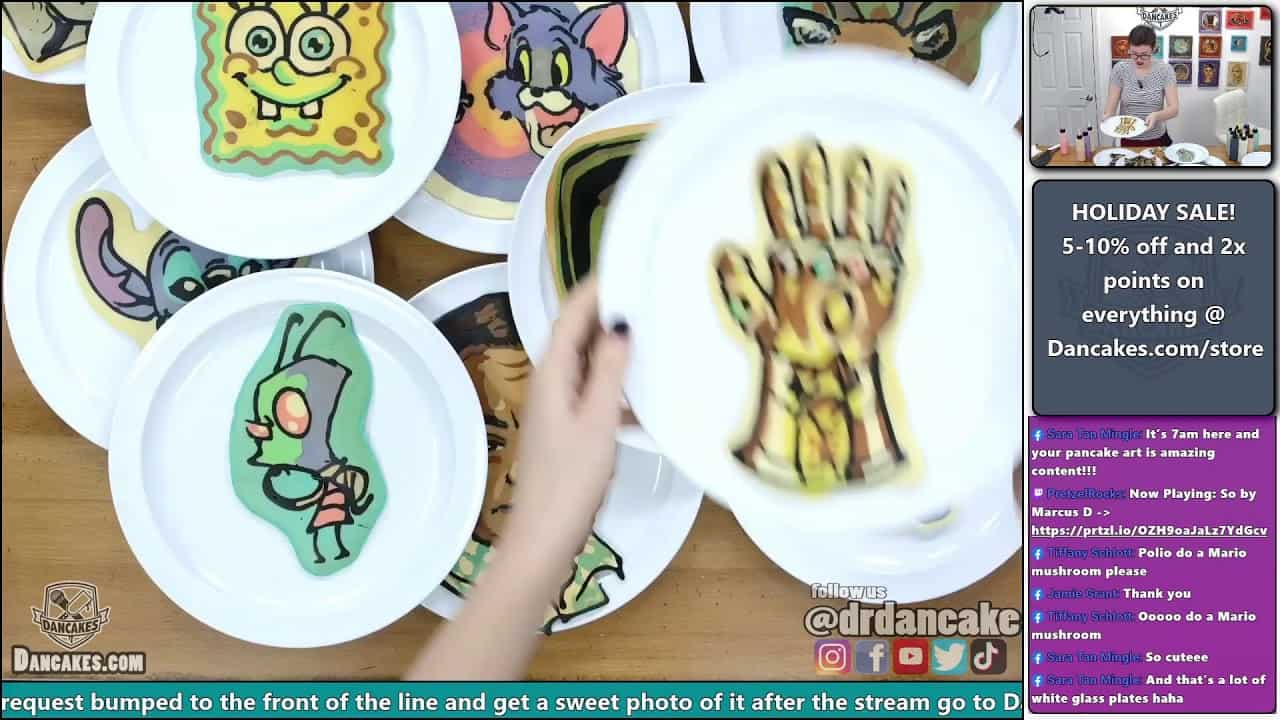 Professional Pancake Artist Take YOUR Request... LIVE! | Dancakes In Studio EP29
