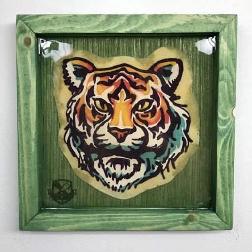 Bright Tiger preserved pancake art