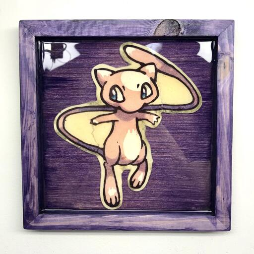 Mew preserved pancake art