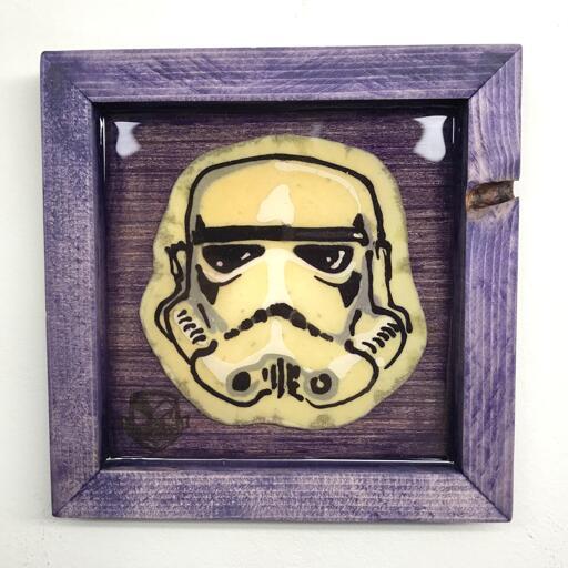 Stormtrooper Helmet preserved pancake art